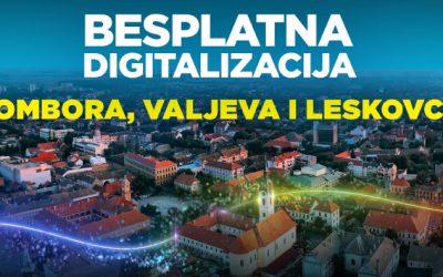 SBB POČINJE DIGITALIZACIJU LESKOVCA, VALJEVA I SOMBORA