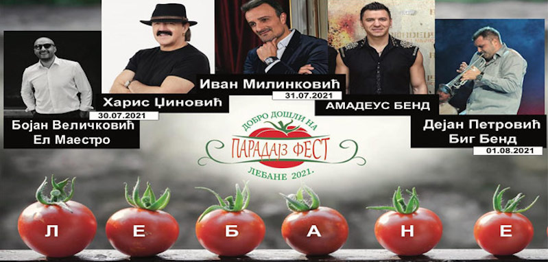 Koncertom Harisa Đžinovića sutra počinje Paradajz fest